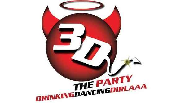 3D The Party Logo